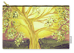 Heart Of Gold Tree By Jrr Carry-all Pouch by First Star Art