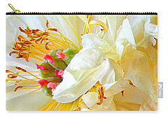 Carry-all Pouch featuring the photograph Heart Of Peony by Nareeta Martin