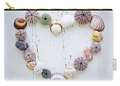 Heart Of Seashells And Rocks Carry-all Pouch by Elena Elisseeva