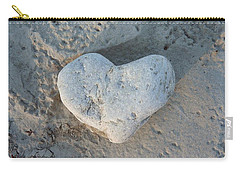 Heart Stone Photography Carry-all Pouch by Rachel Stribbling