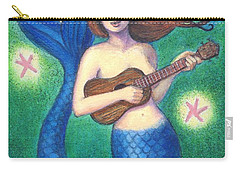 Carry-all Pouch featuring the painting Heart Tail Mermaid by Sue Halstenberg