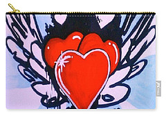 Hearts Carry-all Pouch by Marisela Mungia
