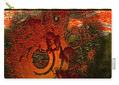 Carry-all Pouch featuring the digital art Heat Of Battle by Clayton Bruster