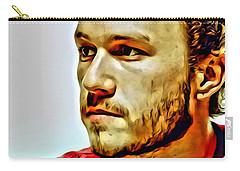 Heath Ledger Portrait Carry-all Pouch by Florian Rodarte