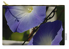 Carry-all Pouch featuring the photograph Heavenly Blue Morning Glory by James C Thomas