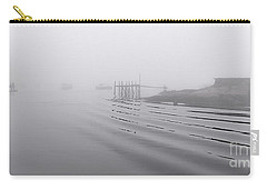 Carry-all Pouch featuring the photograph Heavy Fog And Gentle Ripples by Marty Saccone