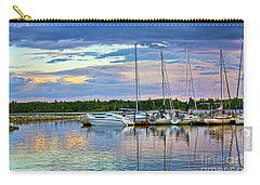 Carry-all Pouch featuring the photograph Hecla Island Boats II by Teresa Zieba