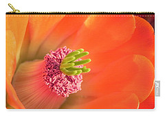 Carry-all Pouch featuring the photograph Hedgehog Cactus Flower by Deb Halloran