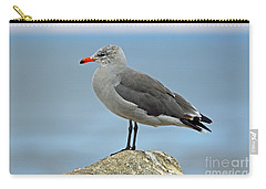 Carry-all Pouch featuring the photograph Heermann's Gull In Profile by Susan Wiedmann