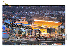 Heinz Field At Night Carry-all Pouch by Adam Jewell