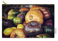 Heirloom Tomatoes At The Farmers Market Carry-all Pouch by Scott Norris