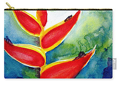 Heliconia - Abstract Painting Carry-all Pouch by Carlin Blahnik