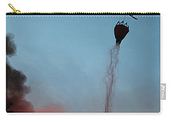 Carry-all Pouch featuring the photograph Helicopter Drops Water On White Draw Fire by Bill Gabbert