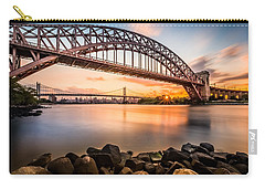 Hell Gate And Triboro Bridge At Sunset Carry-all Pouch by Mihai Andritoiu