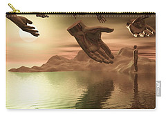 Carry-all Pouch featuring the digital art Helping Hands by John Alexander