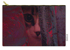 Carry-all Pouch featuring the photograph Helping In The Art Studio by Jacqueline McReynolds
