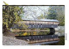 Hemlock Covered Bridge Carry-all Pouch by Catherine Gagne