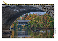 Carry-all Pouch featuring the photograph Henniker Covered Bridge No. 63 by Jeff Folger