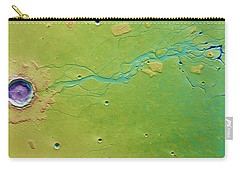 Carry-all Pouch featuring the photograph Hephaestus Fossae, Mars by Science Source
