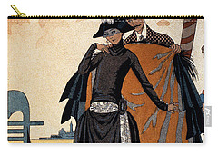 Her And Him Fashion Illustration Carry-all Pouch by Georges Barbier