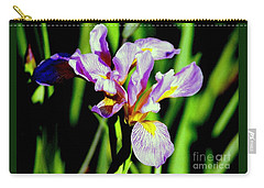 Carry-all Pouch featuring the photograph Iris Her Queen Majesty by Michael Hoard