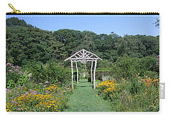 Carry-all Pouch featuring the photograph Herb Garden by Karen Silvestri