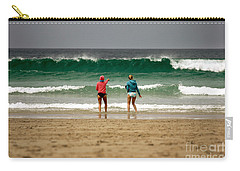 Carry-all Pouch featuring the photograph Here Comes The Big One by Terri Waters