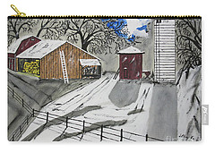Carry-all Pouch featuring the painting Here Comes The Sun by Jeffrey Koss