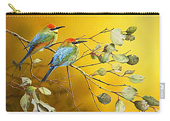 Here Comes The Sun - Rainbow Bee-eaters Carry-all Pouch