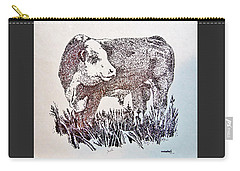 Polled Hereford Bull  Carry-all Pouch