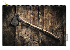 Carry-all Pouch featuring the photograph Wood Cutter by Aaron Berg