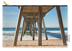 Hermosa Beach Pier Carry-all Pouch by Ana V Ramirez