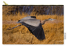 Carry-all Pouch featuring the photograph Heron  #5811 by J L Woody Wooden