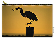 Heron At Sunrise Carry-all Pouch by Leticia Latocki
