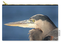 Carry-all Pouch featuring the photograph Heron Close-up by Christiane Schulze Art And Photography