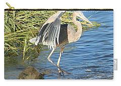 Heron Dance Carry-all Pouch by Karen Silvestri