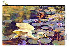 Heron In Lily Pond Carry-all Pouch