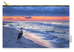 Heron On Mobile Beach Carry-all Pouch