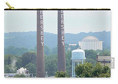 Carry-all Pouch featuring the photograph Hershey Smoke Stacks by Michael Porchik