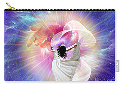 He's Here Carry-all Pouch by Dolores Develde