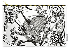 Hexagon Cats Carry-all Pouch by Melinda Dare Benfield