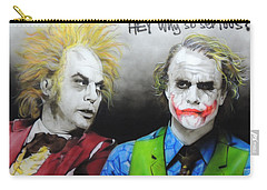 Health Ledger - ' Hey Why So Serious? ' Carry-all Pouch by Christian Chapman Art