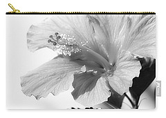 Hibiscus Bw Carry-all Pouch