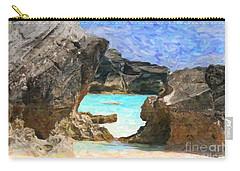 Carry-all Pouch featuring the photograph Hidden Beach by Verena Matthew