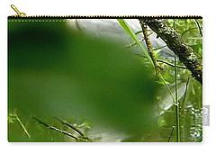 Hidden Bird White Carry-all Pouch by Susan Garren