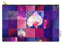 Hidden Orchids Squared Abstract Design Carry-all Pouch by Irina Sztukowski