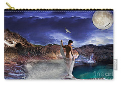 Carry-all Pouch featuring the digital art Hidden River by Liane Wright