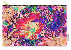 Hiding Hibiscus Carry-all Pouch