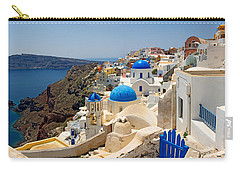 High Angle View Of A Church, Oia Carry-all Pouch