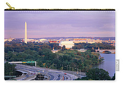High Angle View Of Monuments, Potomac Carry-all Pouch by Panoramic Images